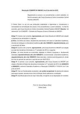 Resolução CONSEPE No 006/2015, de 23 de abril de 2015