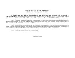 PORTARIA SDA No 22, DE 07 DE ABRIL DE 2015.