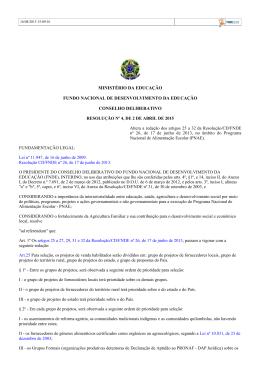 Resolução nº 4/2015 - Ministério do Desenvolvimento Agrário