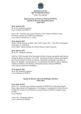 Mês de abril de 2015 - Instituto Brasileiro de Museus