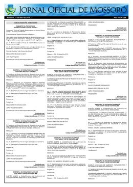 Mossoró, 10 de Abril de 2015 Ano VII   Nº 299