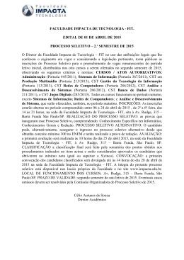 FACULDADE IMPACTA DE TECNOLOGIA