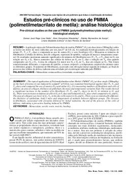 Estudos pré-clínicos no uso de PMMA (polimetilmetacrilato de metila)