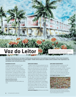 Voz do leitor - Universidade Federal de Juiz de Fora