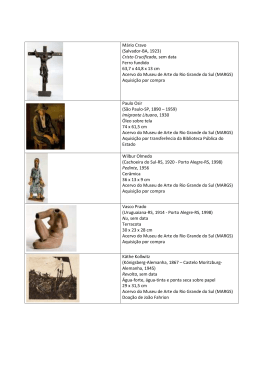 Lista de obras MANIFESTO - Uergs Pibid Artes Visuais