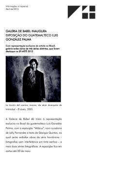 Galeria de Babel inaugura exposição do Gatemalteco