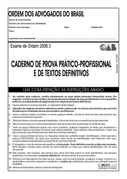 Prova Prático-Profissional - Área: Direito Empresarial