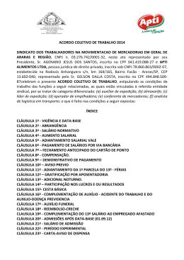 APTI ALIMENTOS LTDA x SINTRAMOMAR - 2014-2015