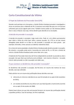 Carta Constitucional da Vítima - Office of the Director of Public