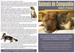Animais de Companhia - Cuidar e Proteger
