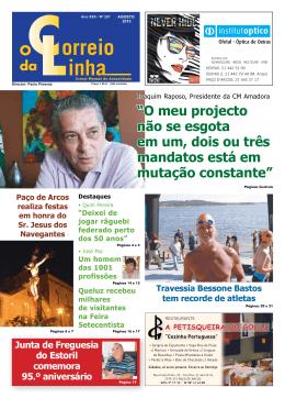 Agosto - Jornal o Correio da Linha