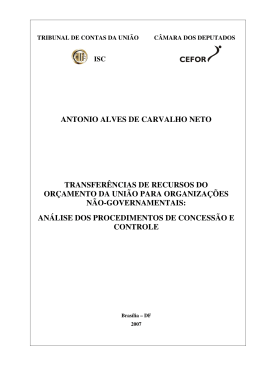 ANTONIO ALVES DE CARVALHO NETO TRANSFERÊNCIAS DE