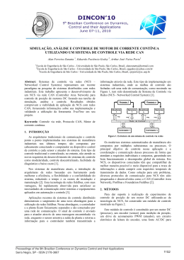 simulação, análise e controle de motor de corrente contínua