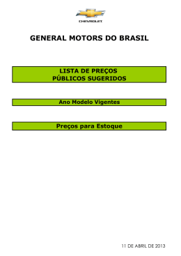 GENERAL MOTORS DO BRASIL