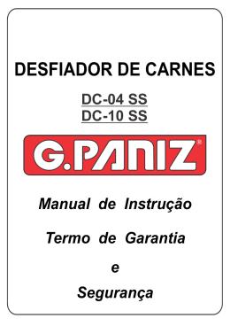 manual do produto