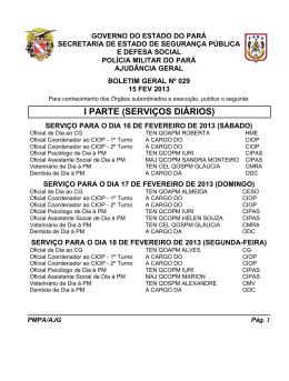 BG 029 - De 15 FEV 2013 - Proxy da Polícia Militar do Pará!