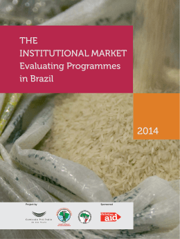 THE INSTITUTIONAL MARKET Evaluating Programmes in Brazil