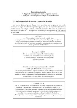 Cooperativas de crédito Opções de associação para