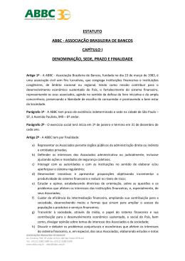estatuto abbc - associação brasileira de bancos capítulo i