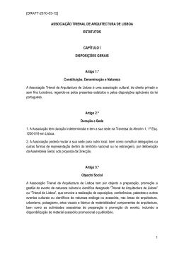 Estatutos Trienal - Ordem dos Arquitectos