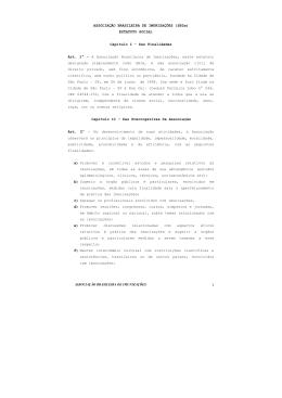 Clique AQUI e veja o Estatuto Social da SBIm