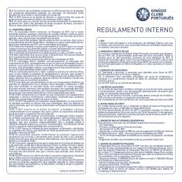GCP - Regulamento Interno 2015