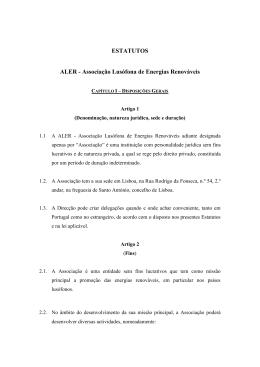 ESTATUTOS ALER - Associação Lusófona de Energias Renováveis