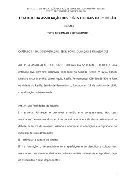 estatuto da associação dos juízes federais da 5ª região – rejufe