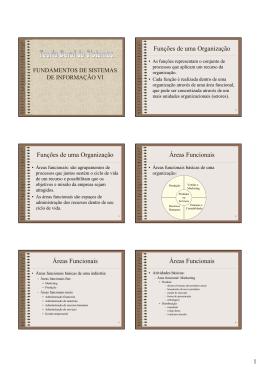 Funções de uma Organização Funções de uma