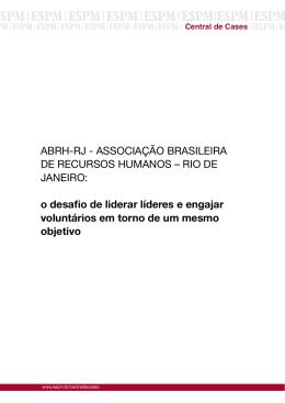 ABRH-RJ - ASSOCIAÇÃO BRASILEIRA DE RECURSOS
