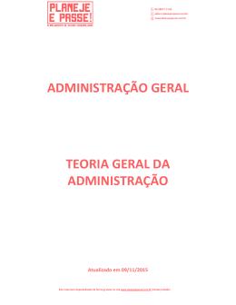 ADMINISTRAÇÃO GERAL TEORIA GERAL DA