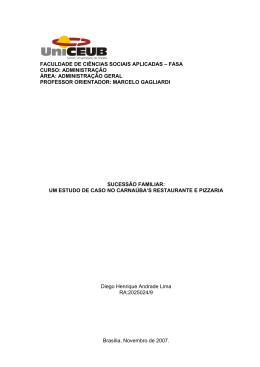 faculdade de ciências sociais aplicadas – fasa curso