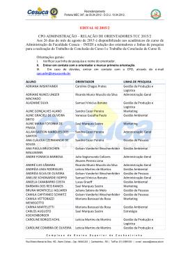 Edital de orientações 2015/2