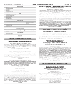 Edital nº 34, de 31 de agosto de 2015, publicado no DODF