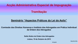 Acção Administrativa Especial de Impugnação
