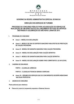GOVERNO DA REGIÃ O ADMINISTRATIVA ESPECIAL DE MACAU