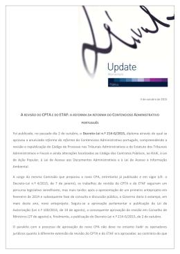 PUBLICAÇÕES SÉRVULO 05 Out 2015 Público A revisão do CPTA