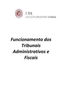 Funcionamento dos Tribunais Administrativos e Fiscais