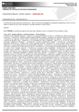 Portaria 003/2011 - Central de Concursos