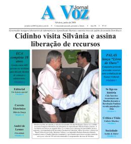 Cidinho visita Silvânia e assina liberação de recursos Governador