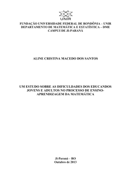 Aline Cristina Macedo dos Santos - Departamento de Matemática e