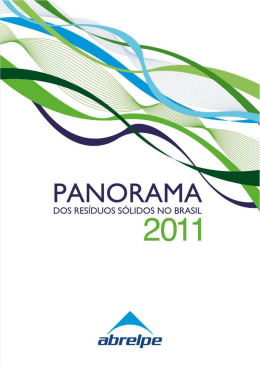 Panorama Resíduos Sólidos Fonte: Abrelpe e ISWA 2012