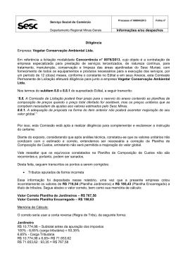 Diligência Empresa: Vegetar Conservação Ambiental Ltda