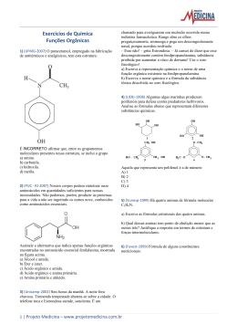 Exercícios de Química Funções Orgânicas