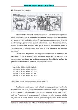 XVI CIPC 2012 – PROVA DE QUÍMICA