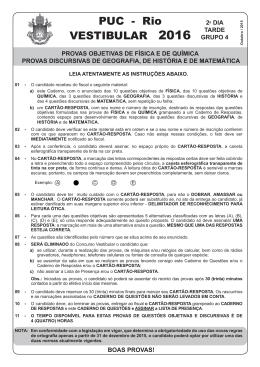 PUC 2016 - 2o DIA - TARDE - GRUPO 4.indd - PUC-Rio