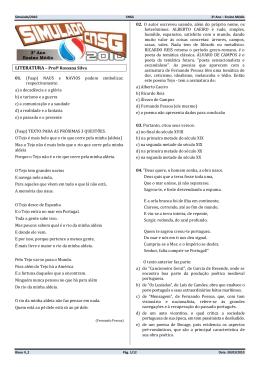 LITERATURA – Profª Rossana Silva 01. (Faap) NAUS e NAVIOS