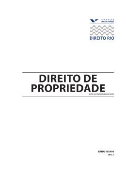 Direito da Propriedade - Acadêmico de Direito da FGV