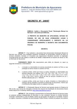 249/07 - Prefeitura de Apucarana