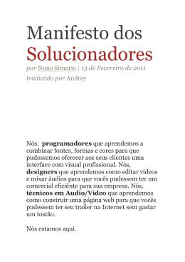Manifesto dos Solucionadores